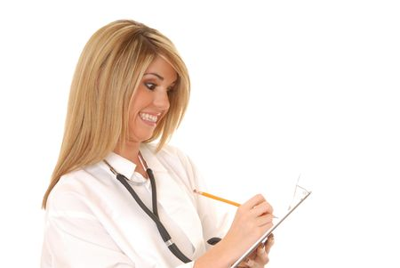 Lovely young and beautiful Doctor or Nurse  Stock Photo - 1320998
