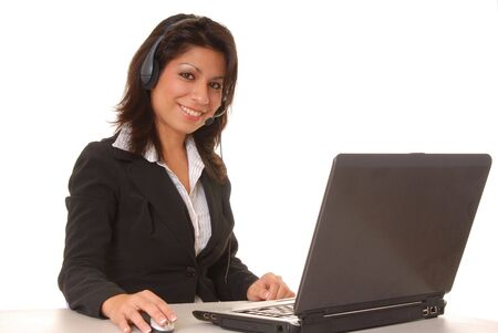 Lovely latina business woman hard at work  Stock Photo