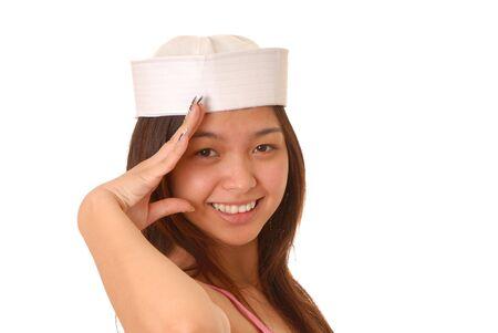 Isolé et sexy belle jeune fille asiatique  Banque d'images - 2550845