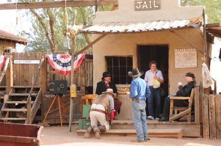 Goldfield, Arizona USA - January 16:  Unidentified Actors portraying Arizona gunfighters January 16, 2011 in ghost town Goldfield, Arizona USA