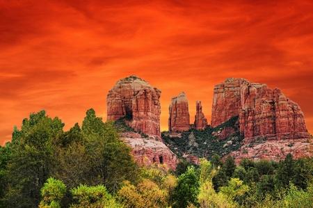 Sunrise at cathedral rock Sedona Arizona