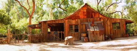 southwest usa: Old rustic and abandoned cabin in the southwest USA