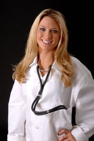 Lovely young and beautiful Doctor or Nurse Stock Photo - 8935106