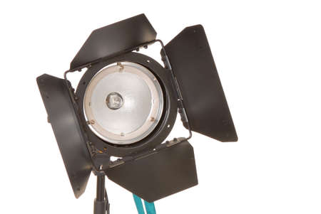 Incandescent studio light with barn doors attached photo