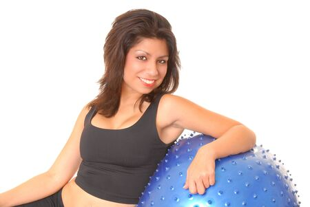 Beautiful young latina girl doing a fitness workout  Stock Photo - 9016471