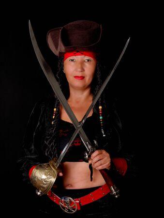 cutlass: A lovely pirate girl with a cutlass