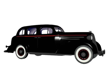 nostalgy: Old 1930s model illustrated 3d sedan automobile