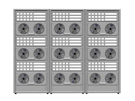 Large multi-bank streaming data tape storage photo