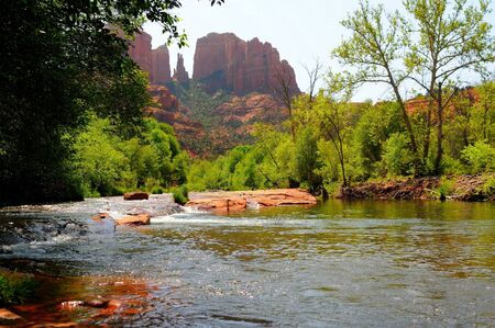 red cliffs and rock formations at sedona arizona photo
