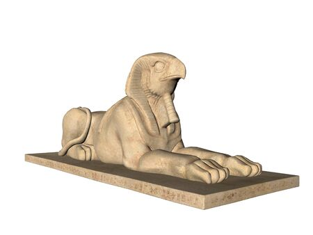 Ancient Egyptian Stature Sphinx Фото со стока