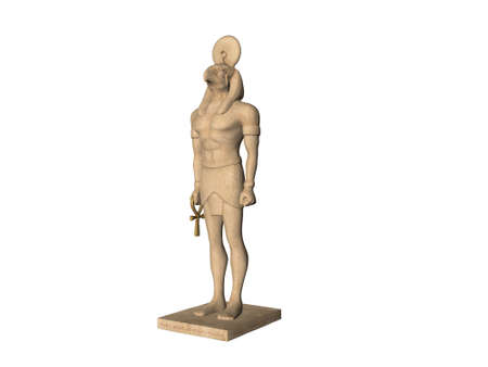 necropolis: Ancient Egyptian God statue Stock Photo