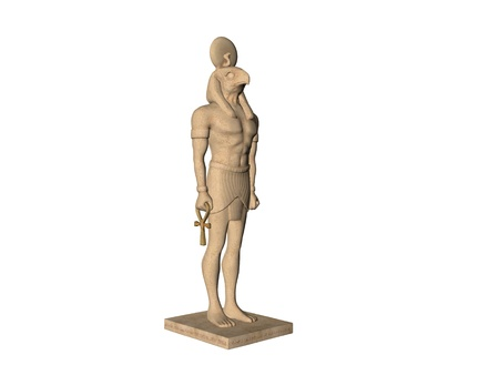 Isolated ancient Egyptian Stature