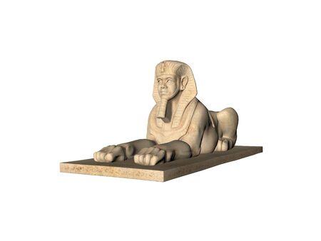 Isolated Egyptian Sphinx