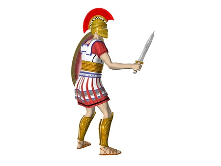 Illustration of an ancient Greek Sparten or Roman Warrior