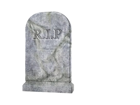 3D gerenderte Darstellung der Friedhof tombstone Standard-Bild - 9183804