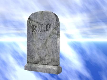 3d rendered illustration of a graveyard tombstone illustration