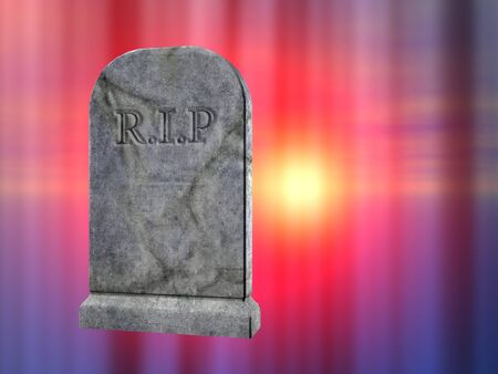 3d rendered illustration of a graveyard tombstone