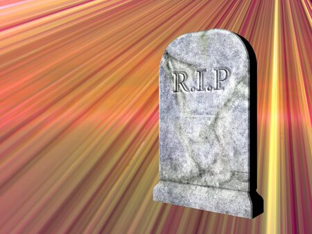rendered: 3d rendered illustration of a graveyard tombstone