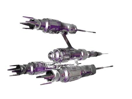 Een illustratie van een diep ruimteschip