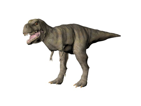 bipedal: An illustration of the dinosaur Tyrannosaurus Rex