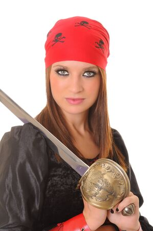 A lovely pirate girl with a cutlass photo