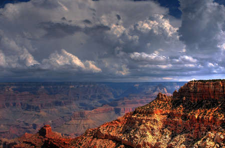 Grand Canyon with a storm approaching photo
