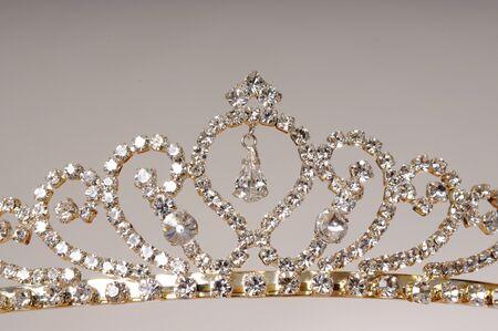 Isolated diamond jewel tiara isolated over gray  photo