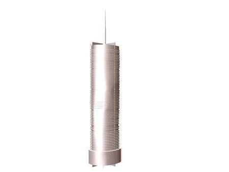 3D illustratie van een zilveren kasteelkantelen die over whilte worden geïsoleerd Stockfoto