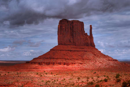 Stormy weather over Monument Valley  photo