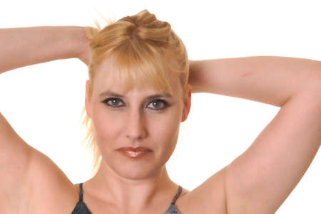 Portrait of a young and tough blond girl Stock Photo - 9652180