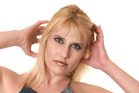 Portrait of a young and tough blond girl Stock Photo - 9652213