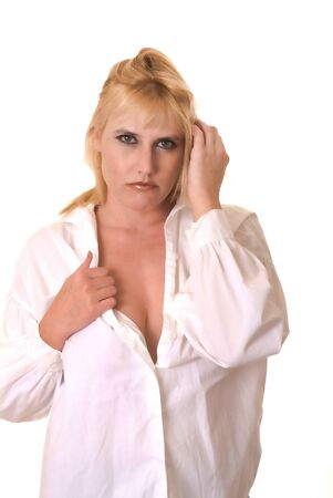 Portrait of a young and tough blond girl Stock Photo - 9652171