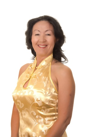 sexy asian woman: Lovely portrait of a senior asian business woman