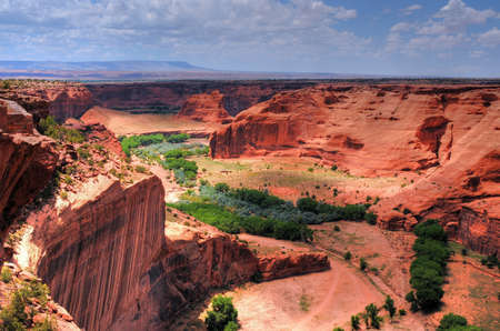 indian artifacts: The entrance or beginning of the Canyon De Chelly