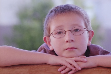 Portrail of a relaxed young boy photo