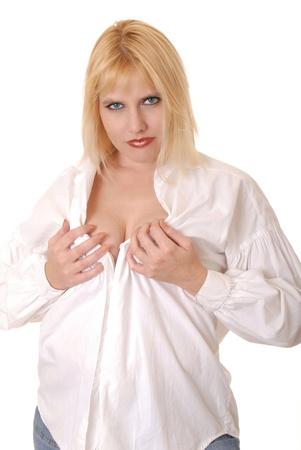 Seductive blond girl photo