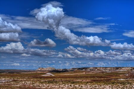 desert storm: Storm clouds forming over the high desert