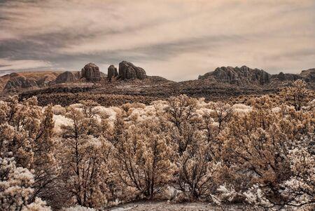 sonora: Toned image of Fall over Sedona Arizona