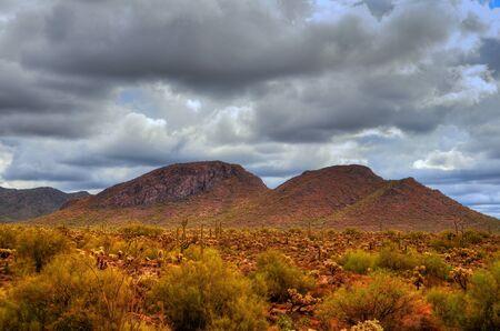 desert storm: Tormenta del Desierto en el desierto del suroeste y las monta�as