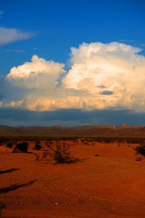 Thunderstorm approaching in the southwestern desert photo