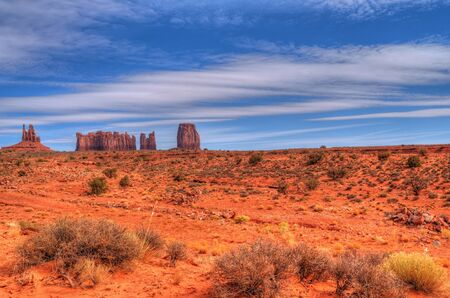 navajo land: The beginning of winter at Monument Valley