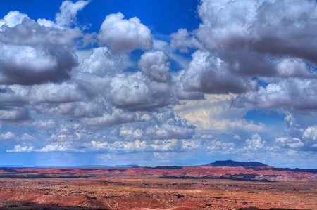 Storm clouds forming over the painted desert Arizona, USA photo