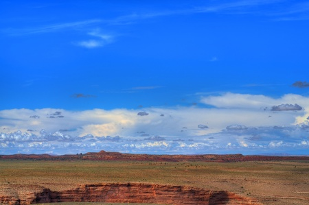 Storm forming over the Navajo Nation, Arizona, USA photo