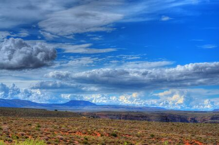 Storm forming over the Navajo Nation, Arizona USA photo