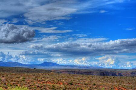 Storm forming over the Navajo Nation, Arizona USA photo