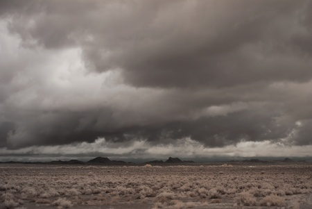 Desert storm over the southwestern desert and mountains photo