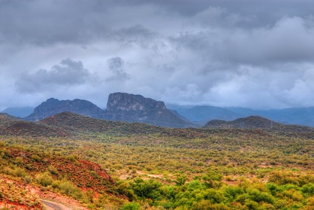 Storm forming over the Arizona desert mountains Stock Photo - 11332100