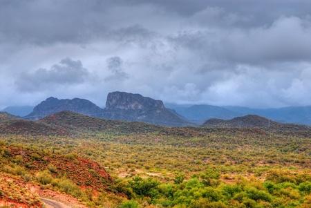 Storm forming over the Arizona desert mountains Stock Photo - 11332100