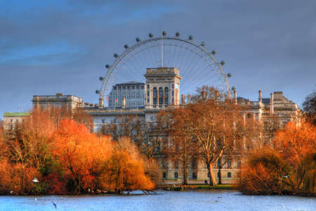 The London Eye during early morning light