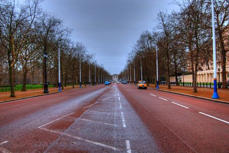 Major London street leading to Buckingham Palace